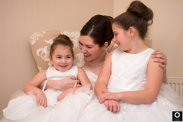 Bride and flower girls wedding photographers