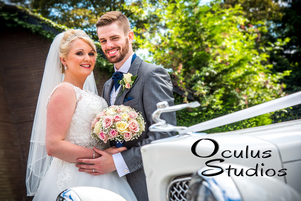 Bride and Groom posing for wedding photographer - Wedding photography Cheshire